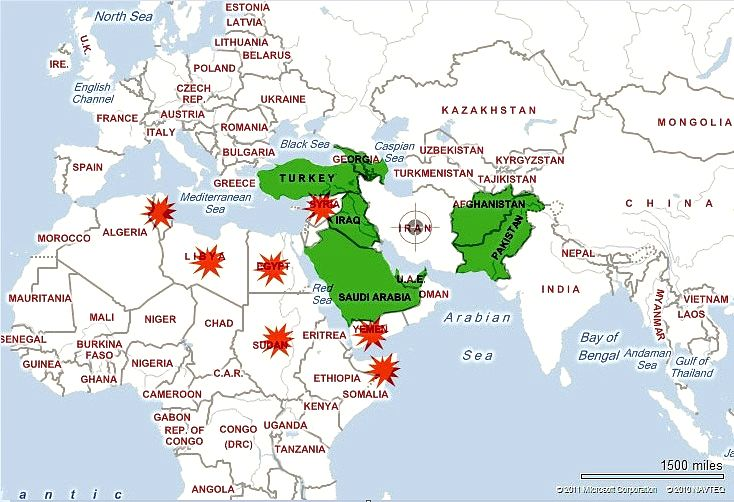 Syria middle east map